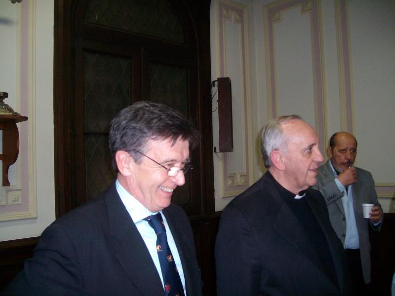 Jorge Milia con il cardinal Bergoglio