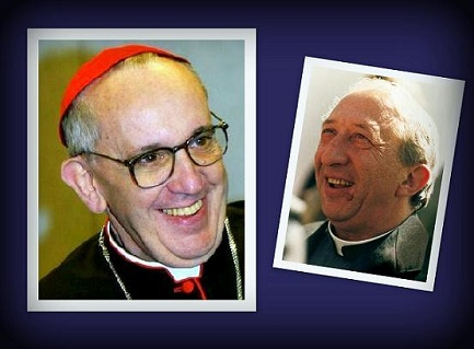 In the picture, Bergoglio and Giussani