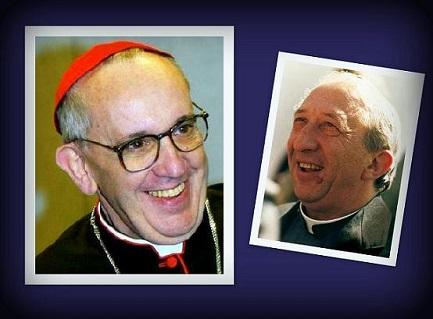 Nella foto Bergoglio e Giussani