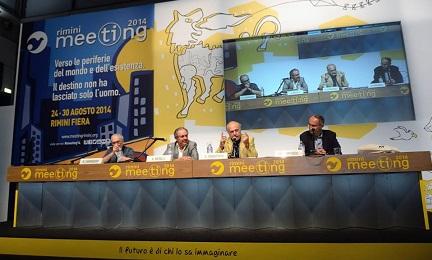 IL PAPA E IL FILOSOFO. Una platea di europei ascolta parlare di un intellettuale nato sul Rio de la Plata, in Uruguay. E' accaduto a Rimini, al Meeting per l'amicizia tra i popoli