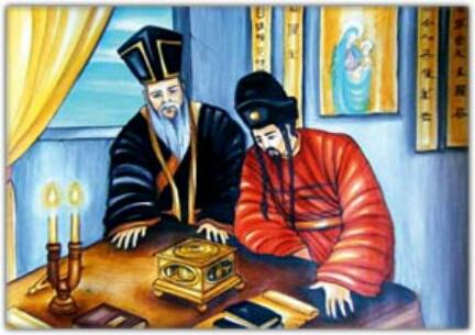 Il gesuita Matteo Ricci.L'eco della sua predicazione in Cina raggiunse anche la Corea.