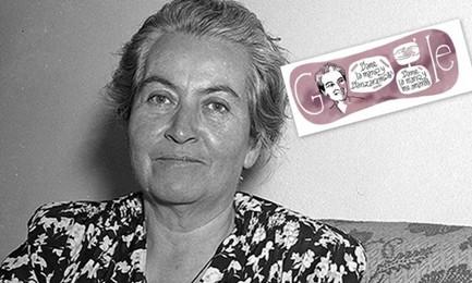 DAMMI LA MANO E DANZEREMO. Google celebra Gabriela Mistral, poetessa ed educatrice cilena, l'unica donna iberoamericana a vincere il Nobel