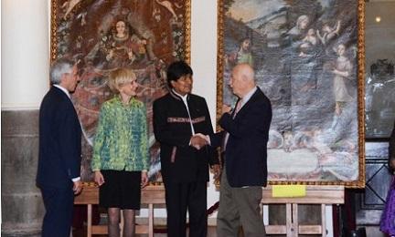 """PIU' SICURI NELLE MANI DI MORALES. Recuperati in Bolivia una """"Fuga d'Egitto"""" e """"Una Vergine della Candelaria"""" di epoca coloniale. Ma non torneranno alla Chiesa"""