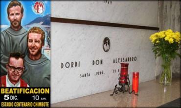 RIESUMATI I RESTI DEI PRIMI SACERDOTI MARTIRI DEL PERU'. Assassinati da Sendero Luminoso nel 1991. La beatificazione  il 5 dicembre
