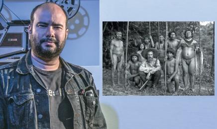Il regista colombiano Ciro Guerra, 36 anni, e una scena del film. Foto: Juan Carlos Sierra