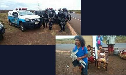 BRASILE. COMUNITÁ GUARANI SFRATTATA, DEMOLITE LE CASE. La comunità di Apy Ka'y si ritrova a vivere sul ciglio dell'autostrada