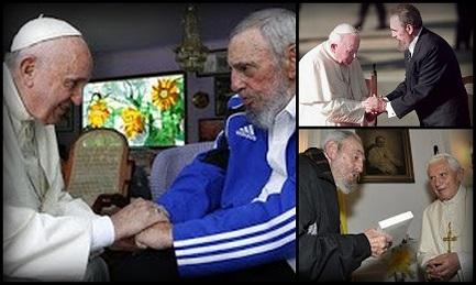 I TRE PAPI DI FIDEL CASTRO. Gli incontri con Wojtyla, Ratzinger e Bergoglio segnano le tappe della lenta transizione cubana