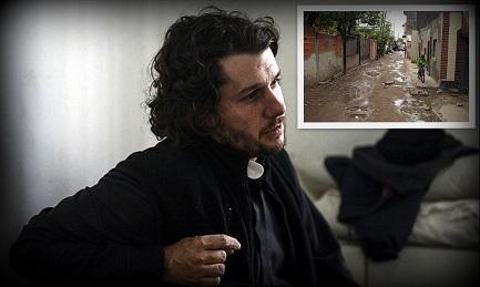 Padre Carlos «Charly» Olivero, 40 anni, da quindici nella villa 21-24 di Buenos Aires