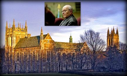 Il Boston College. Nel riquadro il gesuita argentino Juan Carlos Scannone