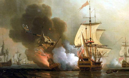 Lo mandò a picco l'Expedition del Capitano inglese Charles Wagner l'8 giugno 1708