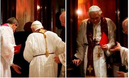 Quaresima 2007: Benedetto XVI confessa nella basilica di San Pietro