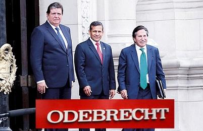 Tre presidenti e molti sospetti: Alan Garcia, Ollanta Humala (al centro), Alejandro Toledo