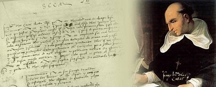 Un presunto ritratto di Las Casas mentre prende appunti per la sua famosa disputa con Sepulveda