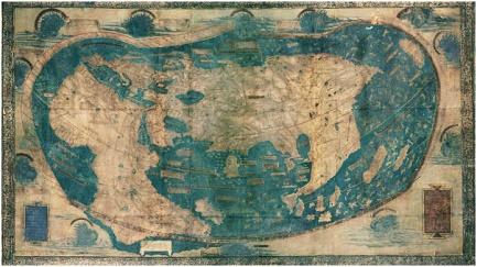 Una delle prime cartine geografiche, conservata nella Yale University