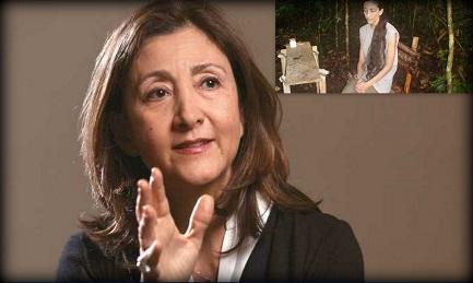Ingrid Betancourt oggi. Nel riquadro una immagine degli anni del sequestro (2002-2008)