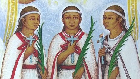 """BAMBINI E MARTIRI. E DA OGGI SANTI. Papa Francesco canonizza in San Pietro i tre """"Niños Mártires de Tlaxcala"""" uccisi nel Messico della conquista"""