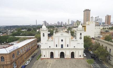 La cattedrale di Asunción, dove il notevole organo troverà posto