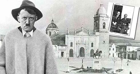 Fotomontaggio di Hitler nella città di Tunja, nella provincia colombiana di Boyacá, pubblicato dalla rivista Semana
