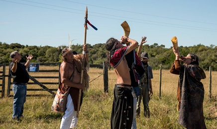 Ancora oggi i charrúas suonano trombe per annunciare che si avvicina un pericolo (Foto Pablo Albarenga)
