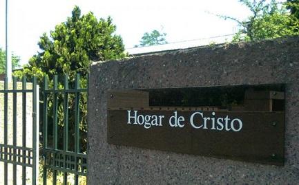 "L'ingresso del ""Hogar de Cristo"" di Santiago del Cile"