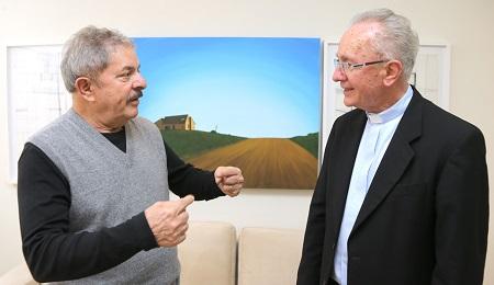 Lula con il cardinale emerito Cláudio Hummes