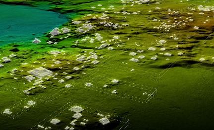 Una scansione laser mostra la vasta rete di città, fortificazioni, fattorie e strade