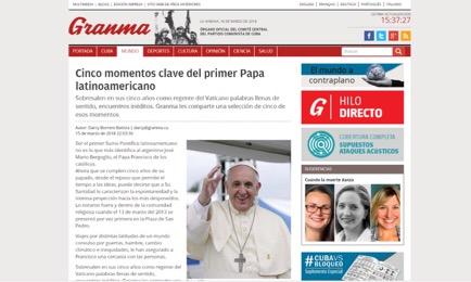 La prima pagina di Gramna del 16 marzo