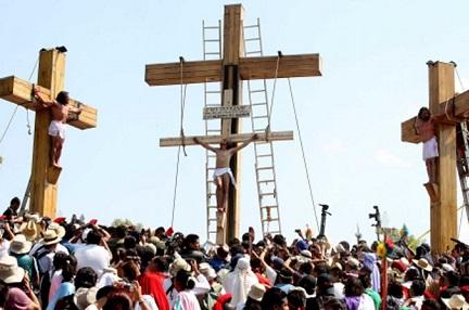 La crocifissione di Iztapalapa, a Città del Messico