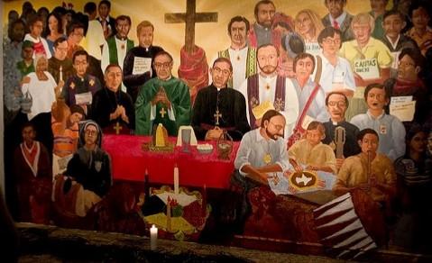 Murales con Romero e Gerardi affiancati