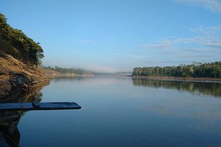 Vista del fiume Putumayo, limite naturale tra Perù e Colombia (Foto Martina Conchione-CAAAP)