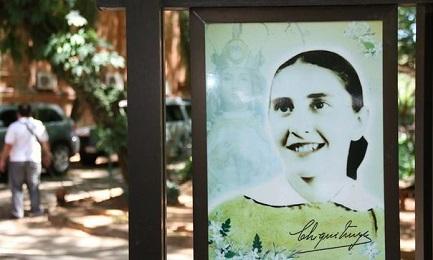 "Immagine di María Felicia del Jesús Sacramentado nel ""Jardín de Chiquitunga"" di Asunción"