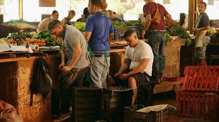 Venditori nel mercato agricolo del Vedado, a L'Avana (Chip Somodevilla-Getty Images)