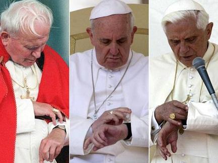 Giovanni Paolo II, Francesco I e Benedetto XVI