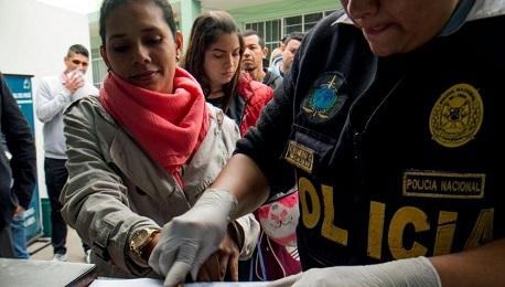 Venezuelani in entrata