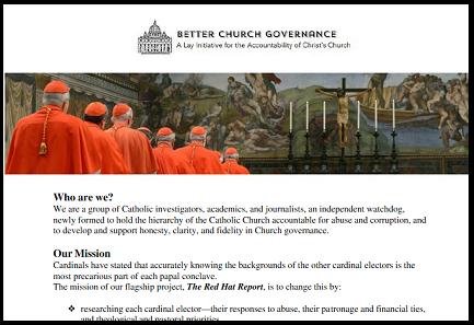 """PAGELLE AI CARDINALI. Un sedicente """"Gruppo per un migliore governo della Chiesa"""" di origine statunitense finanzierà il progetto """"Red Hat Report"""" per riunire informazioni sui porporati"""